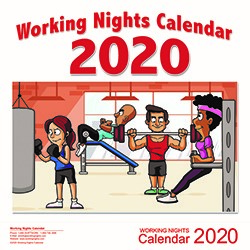Working Nights 2020 Calendar