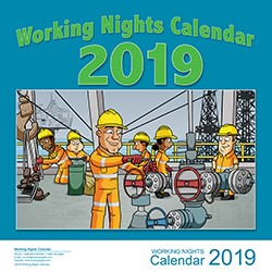 2019 Working Nights Pocket Calendar
